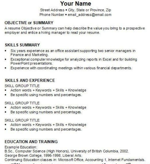 how to make a resume for the first time