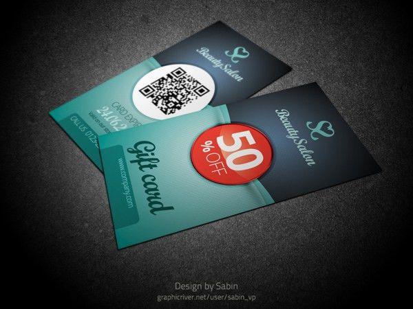 Gift / Voucher Card Template by Valentin Sabin Plesa, via Behance ...