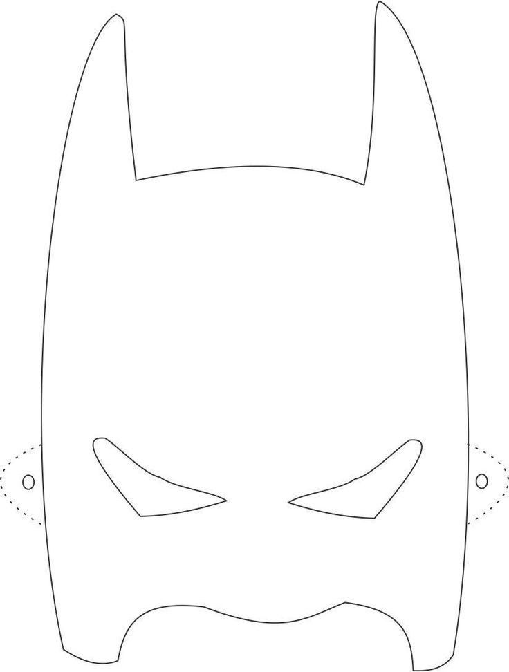 Batman Mask Template Printable... | Eva | Pinterest | Batman mask ...