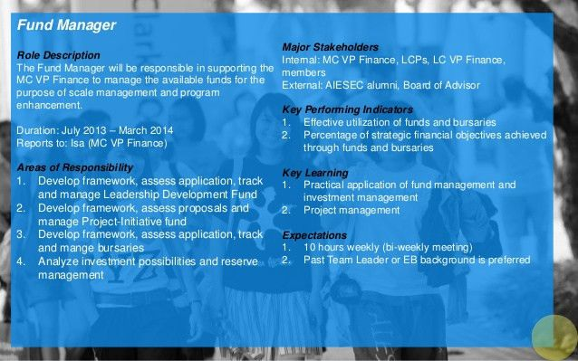 AIESEC Singapore 13-14 National Support Team Application Package