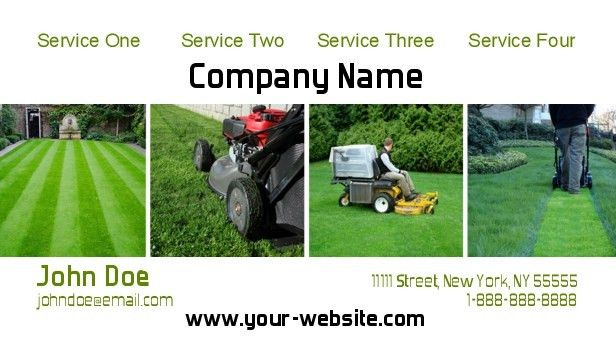 Landscaping Business Cards, Lawn Care busines Cards-Business Cards ...