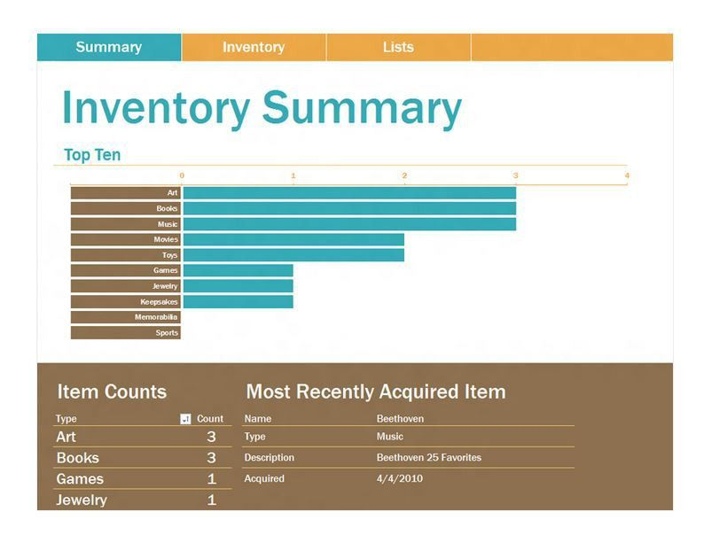 inventory log book template