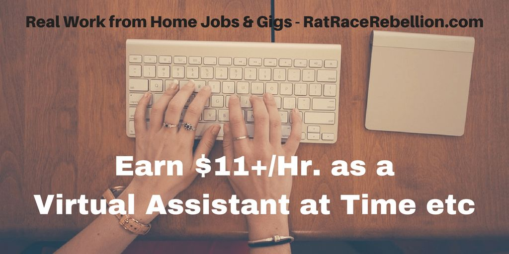 Earn $11+/Hr. as a Virtual Assistant at Time etc - Real Work From ...
