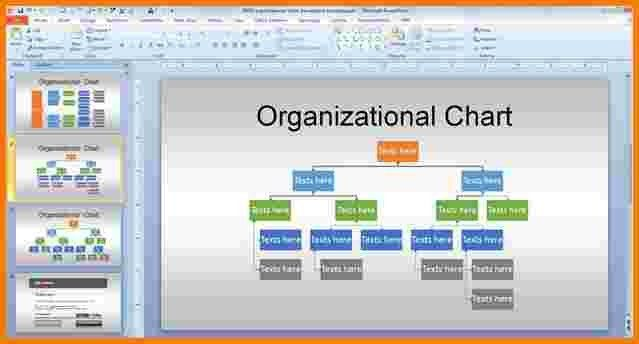 5 powerpoint organizational chart template | Receipt Templates