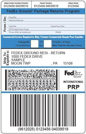 Package Return Services - Return Shipping Labels - FedEx