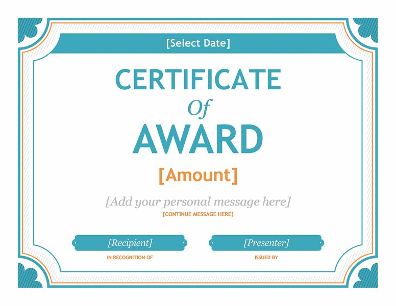 Free Gift Certificate Template Award Template For Word 2013 Or ...