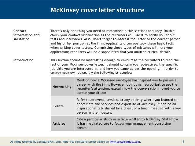 Killer consulting cover letter