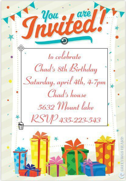Birthday Invitation Templates - Kawaiitheo.Com