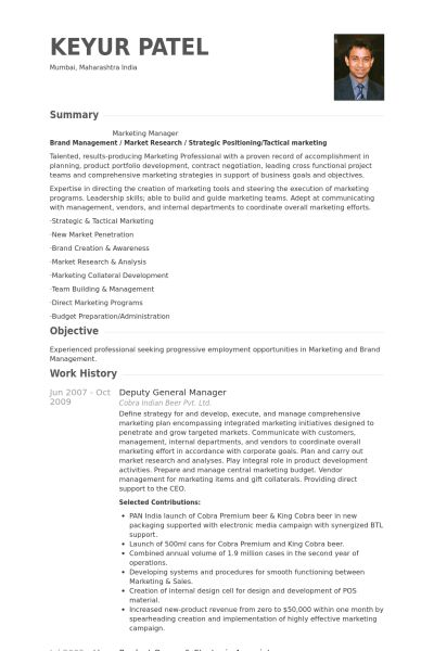 Deputy General Manager Resume samples - VisualCV resume samples ...