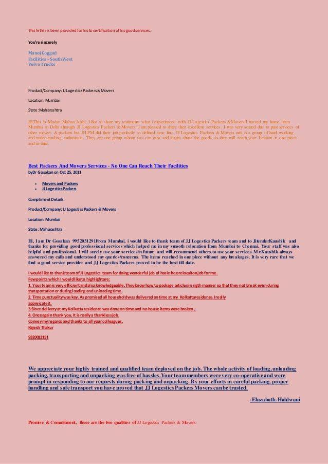 J J Logestics packers and movers mumbai