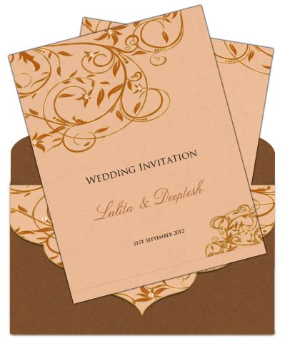 Letter Style Email Indian Wedding Card Design 33 - Email Wedding