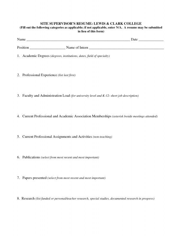 How To Fill Out A Resume | Samples Of Resumes