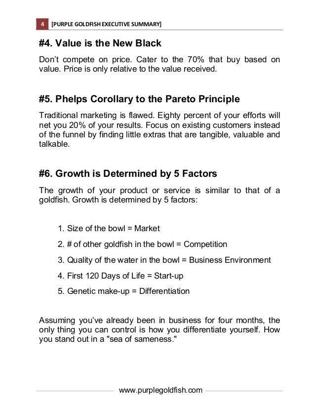 Purple Goldfish Executive Summary