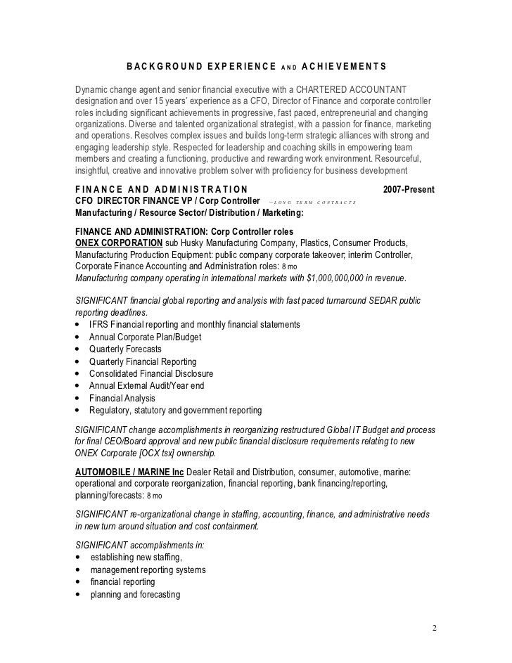 Summary For Resume. Awesome Executive Summary Resume Example ...