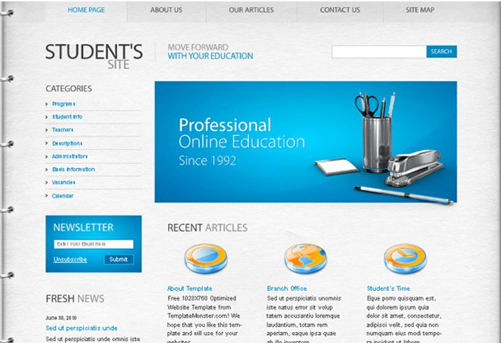 Well-Designed PSD Website Templates for Free Download