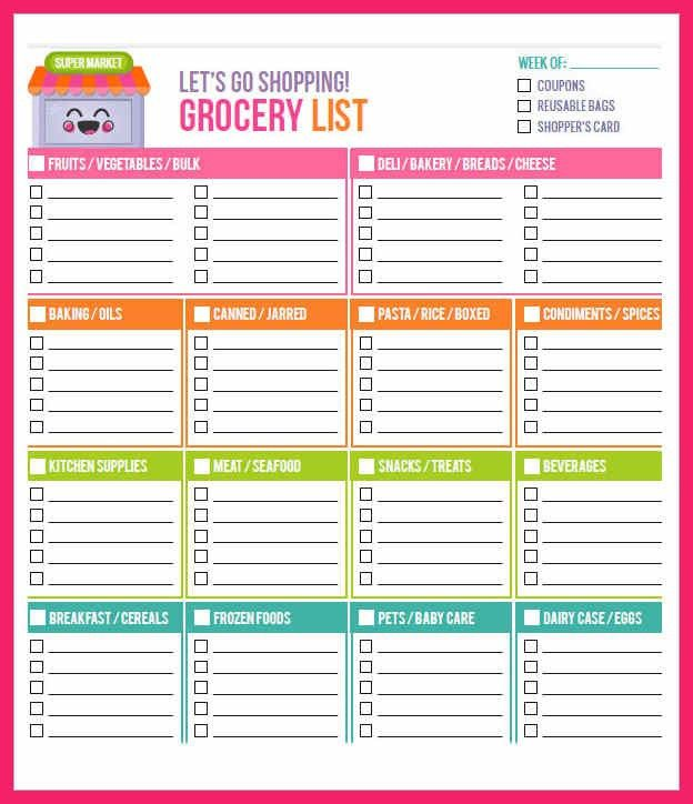 grocery list template word | bio letter format