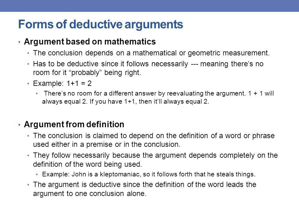ARGUMENTS: Deduction and Induction - ppt download