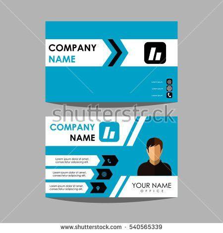 Identification Horizontal Vertical Id Cards Set Stock Vector ...