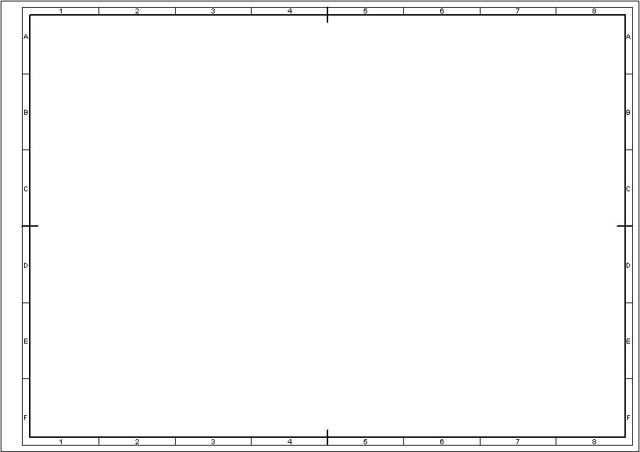 Technical Drawing Standards: Grid Reference Frame.