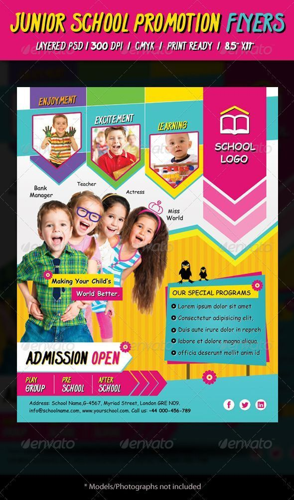 11 best school ad images on Pinterest | Flyer template, Flyer ...