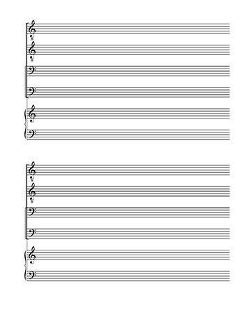 Blank Sheet Music | TTBB Choir and Piano