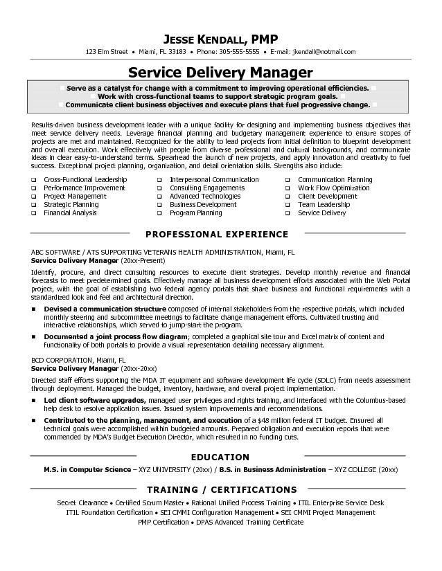 Best IT Manager Resumes 2016   Writing Resume Sample | Writing .
