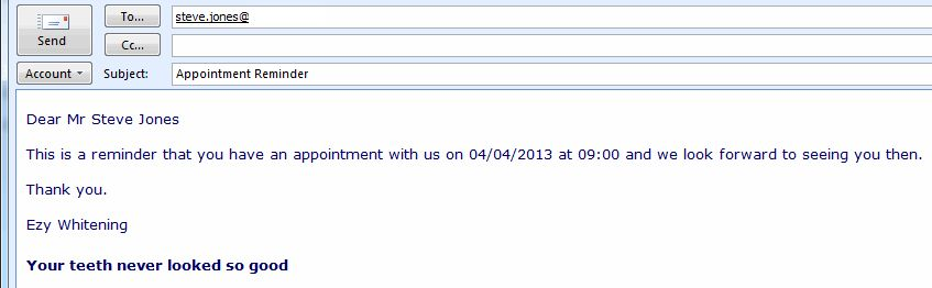 Appointment Reminder Email Software - Appointment Reminders ...