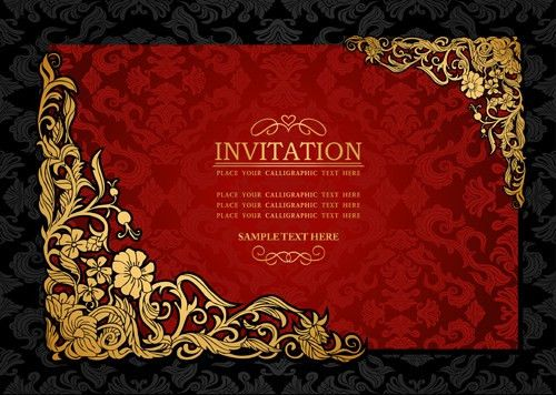 Elements of Luxury invitation background vector 02 - Vector ...
