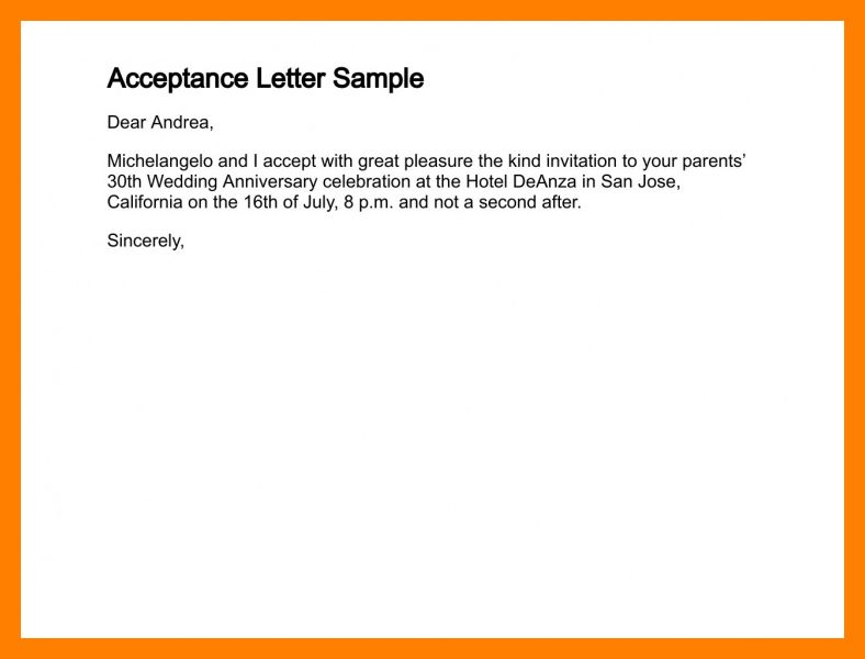 6+ letter of acceptance sample | noc certificate