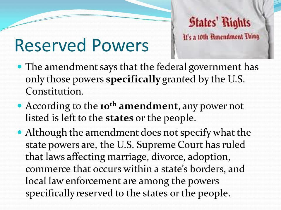Reserved Powers Government - Image Mag