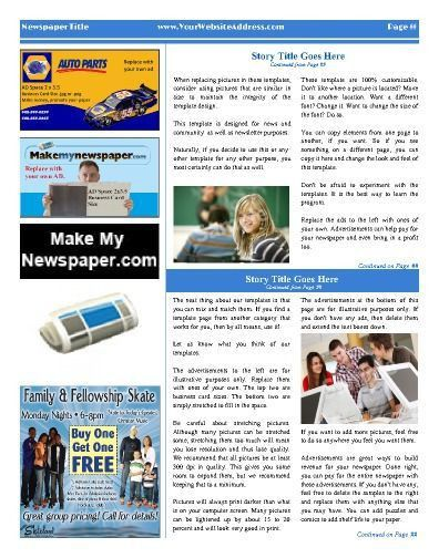 9 best Church Newspaper Templates images on Pinterest | Free cloud ...