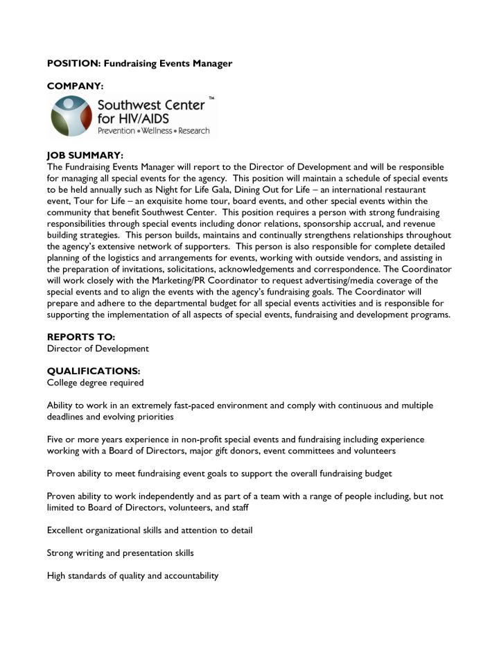 Development Fundraising Cover Letter Sample | Docoments Ojazlink