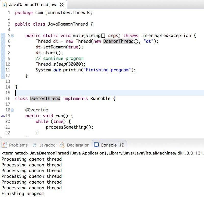 Daemon Thread in Java - JournalDev