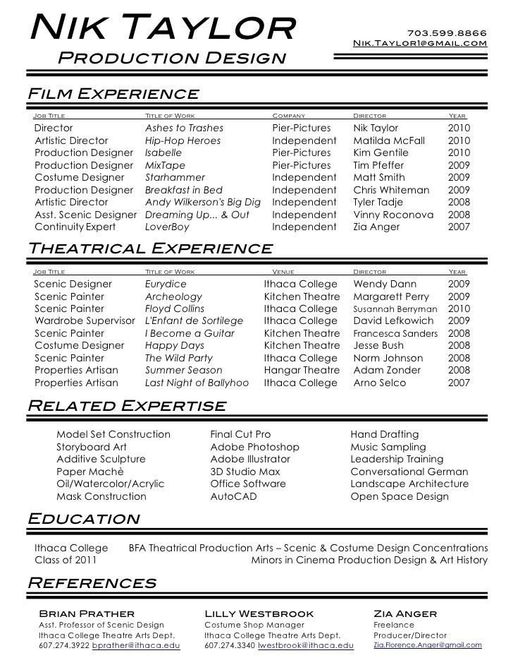 acting resume beginner 20 actors resume example examples and free ...