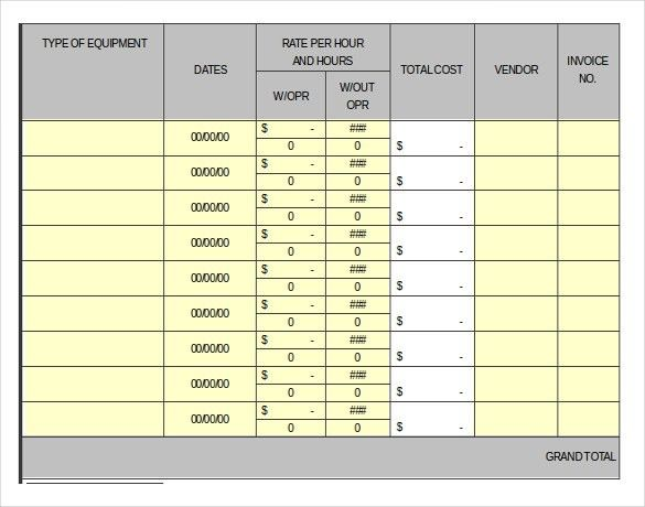 13+ Rental Inventory Templates – Free Sample, Example, Format ...