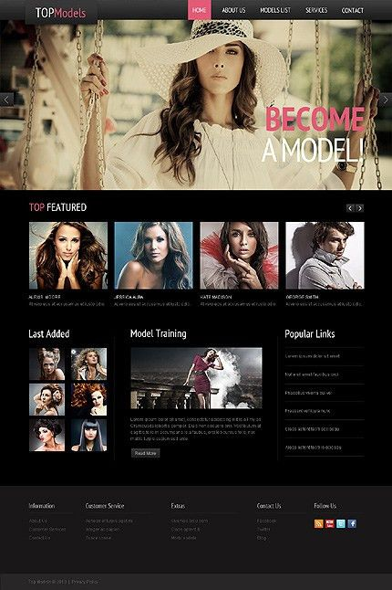 Trendy Fashion Website Templates | Entheos