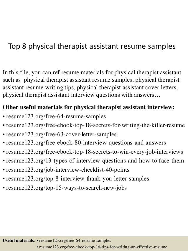 sample resume for physical therapist unforgettable physical