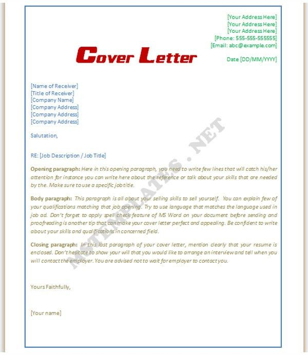 Cover Letter Template Save Word Templates within Cover Letter ...