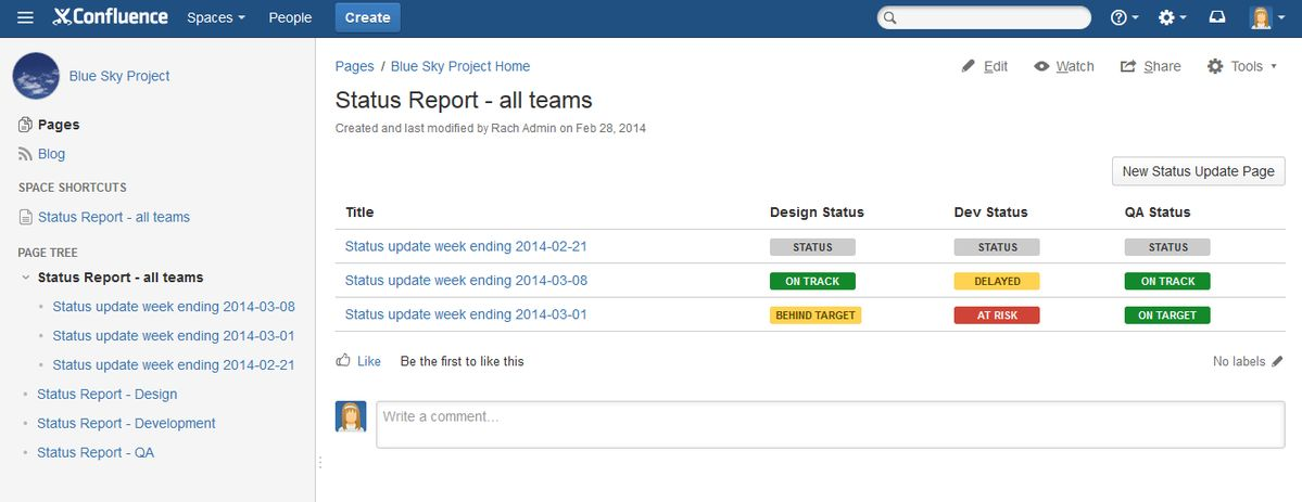 Creating a blueprint style report - Atlassian Documentation