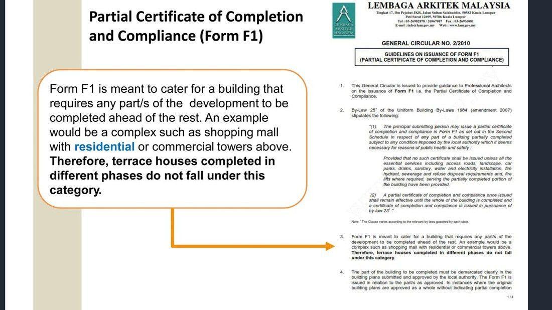 PRACTICE FORUM - Stage Completion Certification under HDA - DAVIDYEK