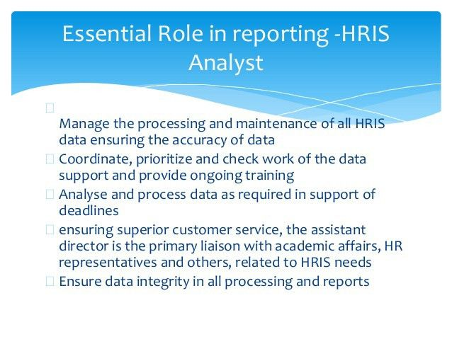 HRIS Apps and Reporting Methods