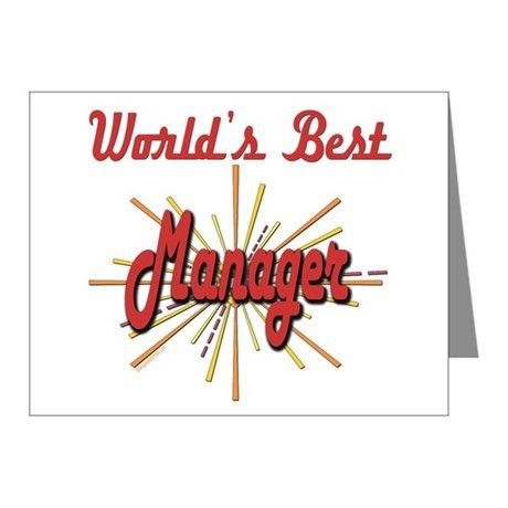 1 Manager Thank You Cards | 1 Manager Note Cards - CafePress