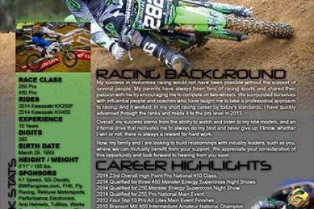 Motocross Sponsorship Resume Template, motocross sponsorship ...