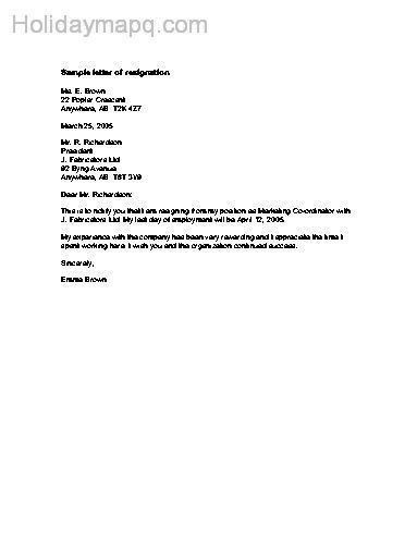simple resignation letter 02. balancerecruitmentcomau the free ...
