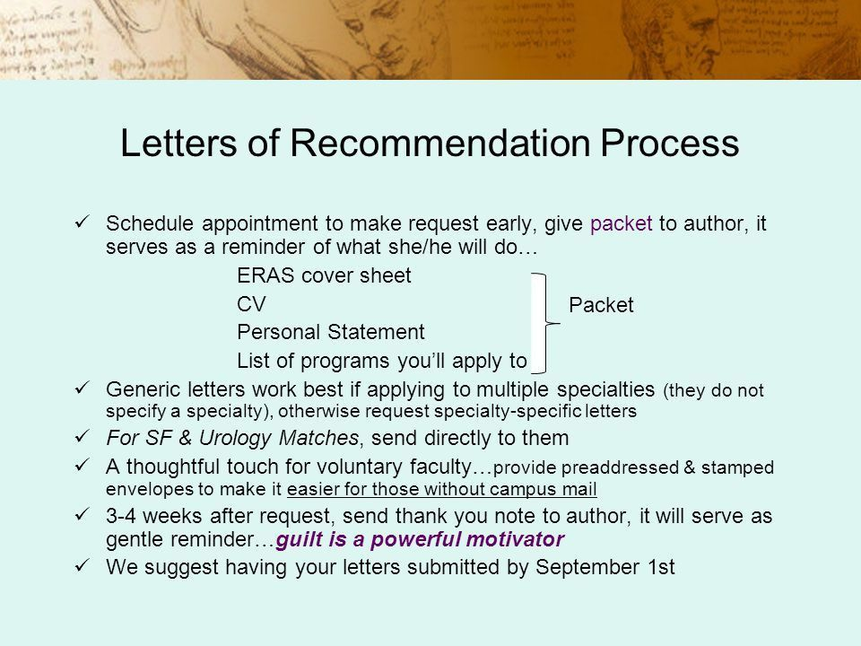 residency cover letters