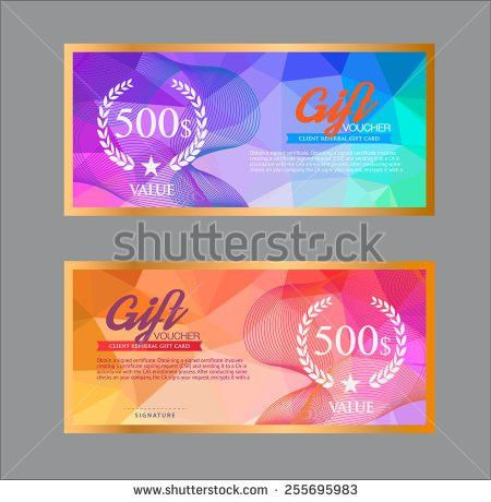 Gift Voucher Template Stock Images, Royalty-Free Images & Vectors ...