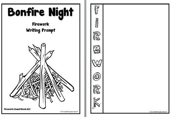 Guy Fawkes Day | Firework | Blank | Writing Template | ABC ...