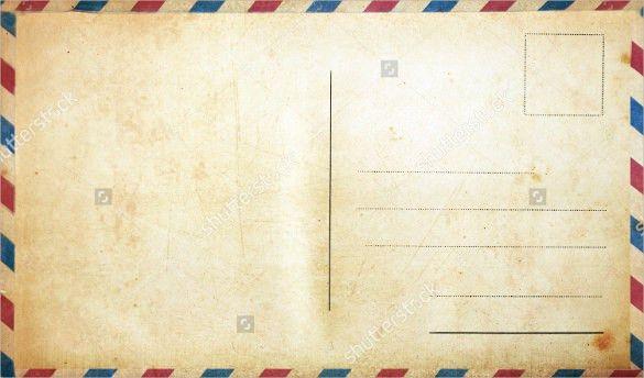 Blank Postcard Template   Free & Premium Templates