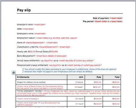 Pay Slip Template | Sample Format