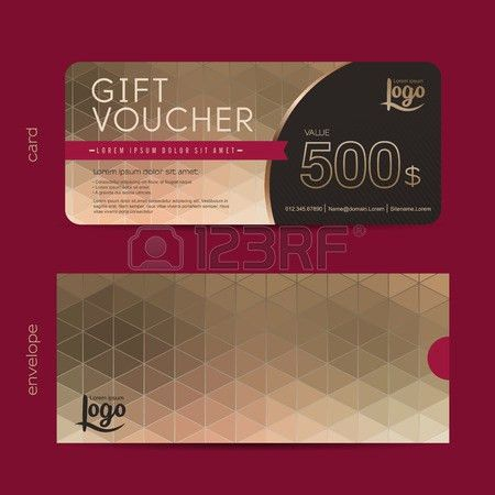 Gift Voucher Template With Premium Pattern And Envelope Design ...